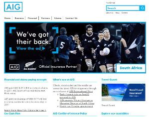 AIG Insurance Website