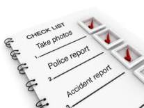 What to do after a car accident - checklist